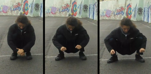 Squat - Outward push
